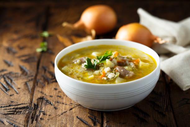kidney soup - minestrone foto e immagini stock