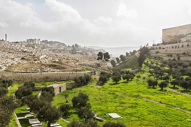 Kidron Valley. Jerusalem stock photo