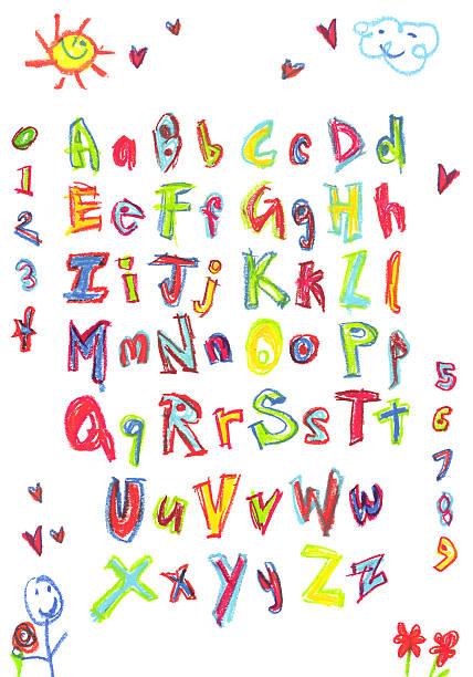Kids Alphabet stock photo