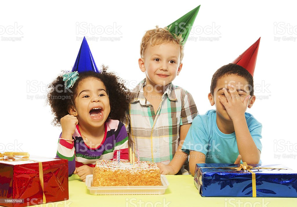 Kids and party royalty-free stock photo