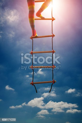 istock Kids are climbing the stairs to be successful in education 638171220