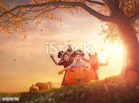 istock kids at halloween 843256788