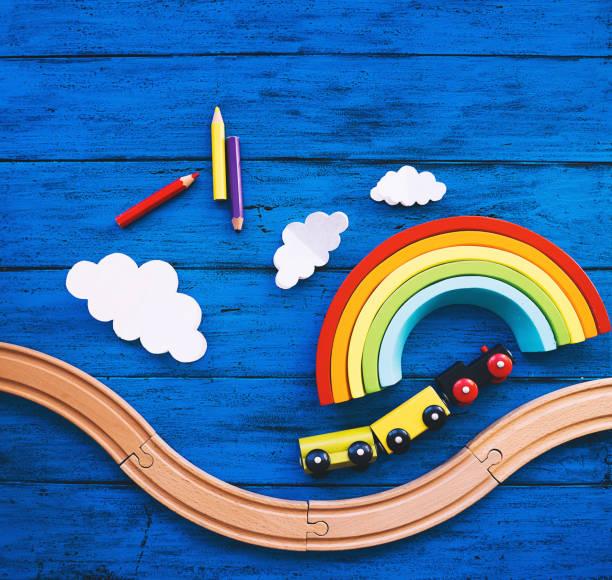 Kinderhintergrund mit Spielzeug – Foto