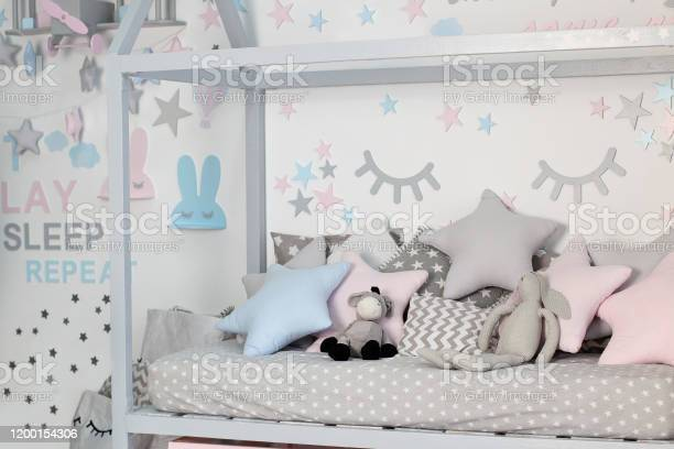 Kids bed in white sunny bedroom children room and interior design bed picture id1200154306?b=1&k=6&m=1200154306&s=612x612&h=jciyzq  jlidalwxs9hfpsdcjc2a6ewhpqm q4lyerc=