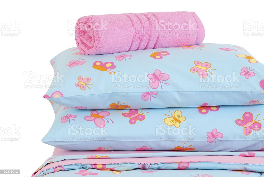 Kid`s bed. royalty-free stock photo