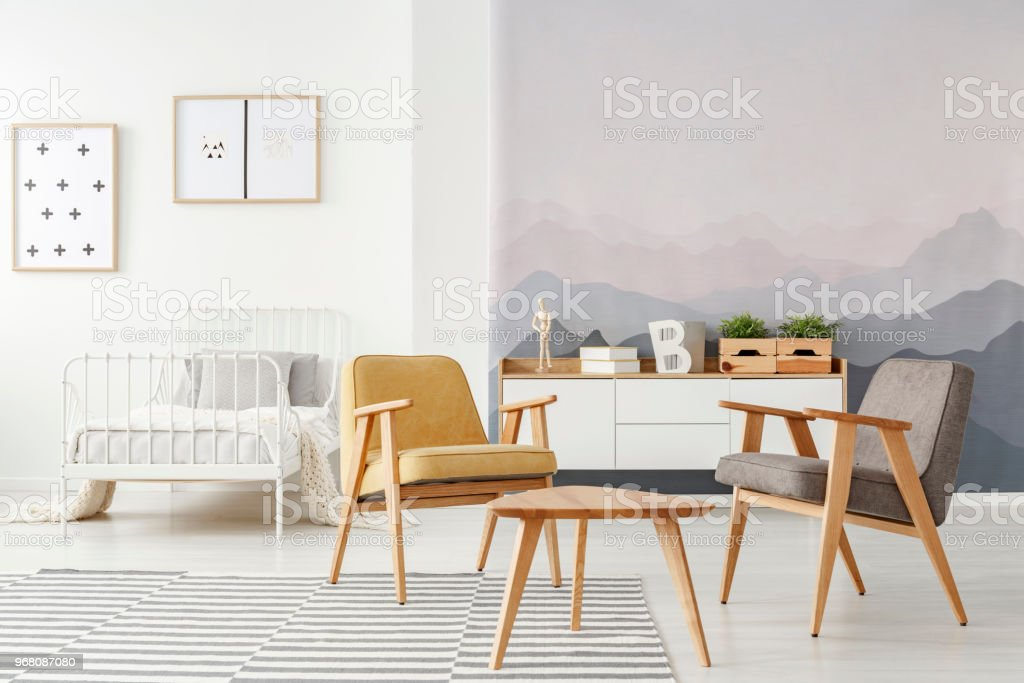 Kids Bedroom With Armchairs Stock Photo - Download Image Now ...