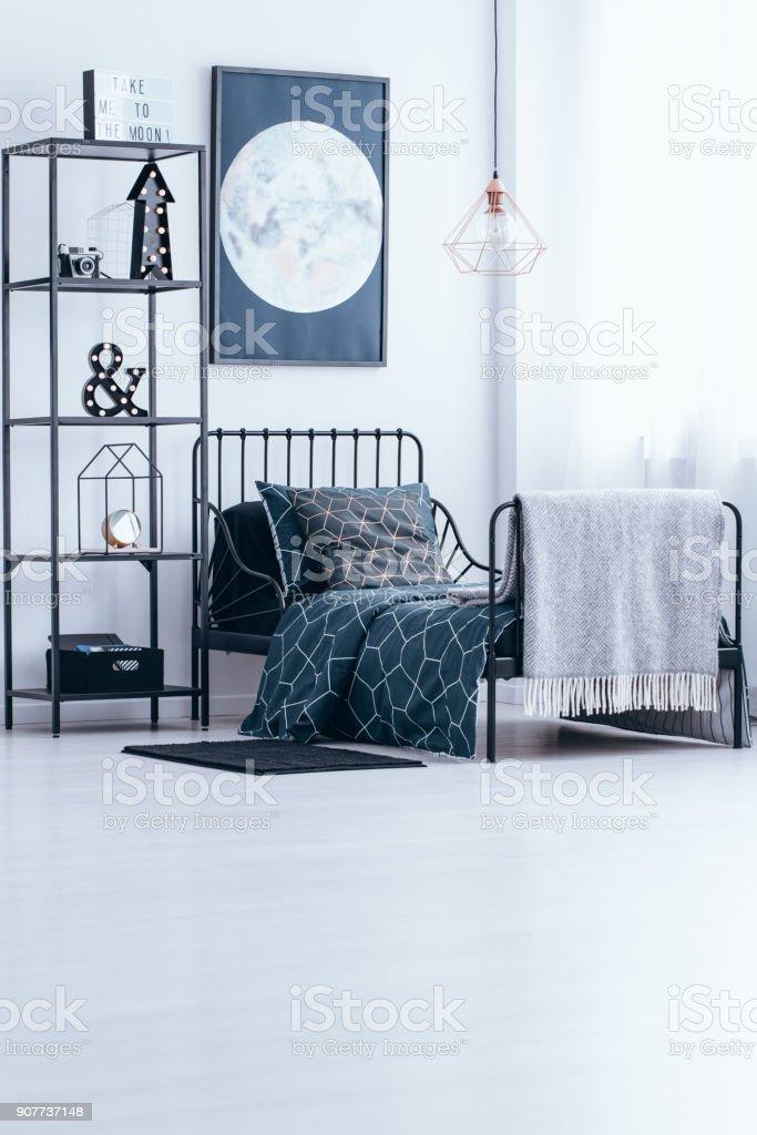 Kinder Schlafzimmer Mit Mond Poster Stockfoto und mehr ...
