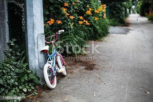 bicycle, childhood, no people, Montreal, alley