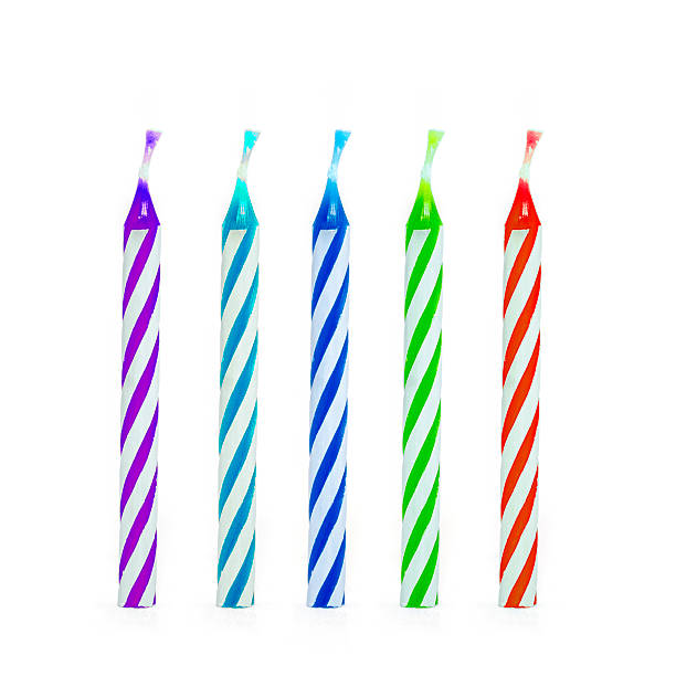 Kids birthday candles Kids birthday candles, clipping path included. birthday candle stock pictures, royalty-free photos & images