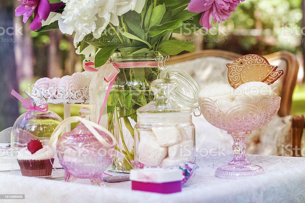 Kids Birthday Table royalty-free stock photo
