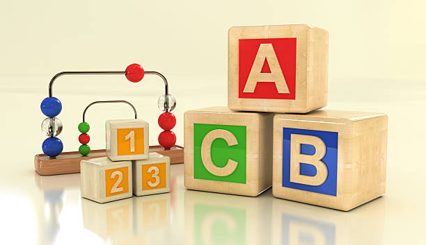 kids blocks - alphabetical order stock pictures, royalty-free photos & images