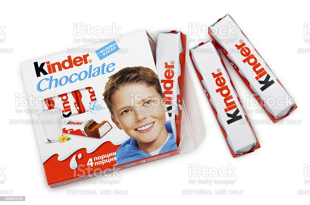 Kinder Chocolate Candy stock photo