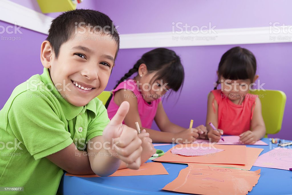 Kids Coloring royalty-free stock photo