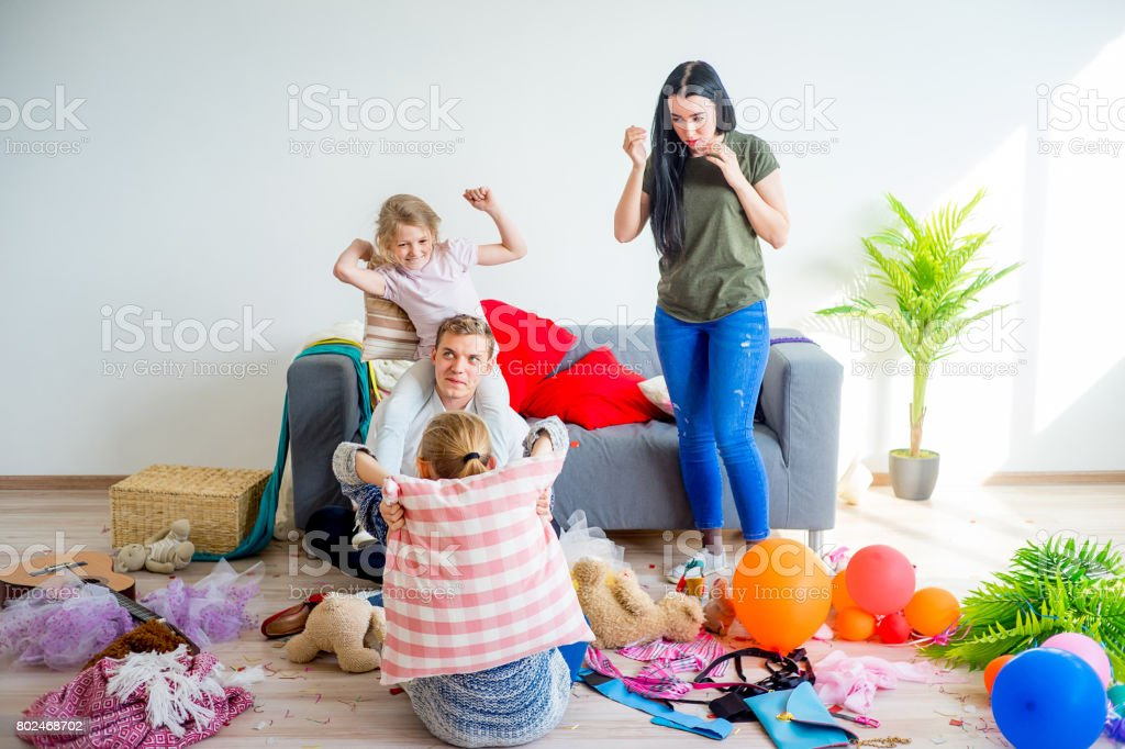 Kids played and created a mess at home
