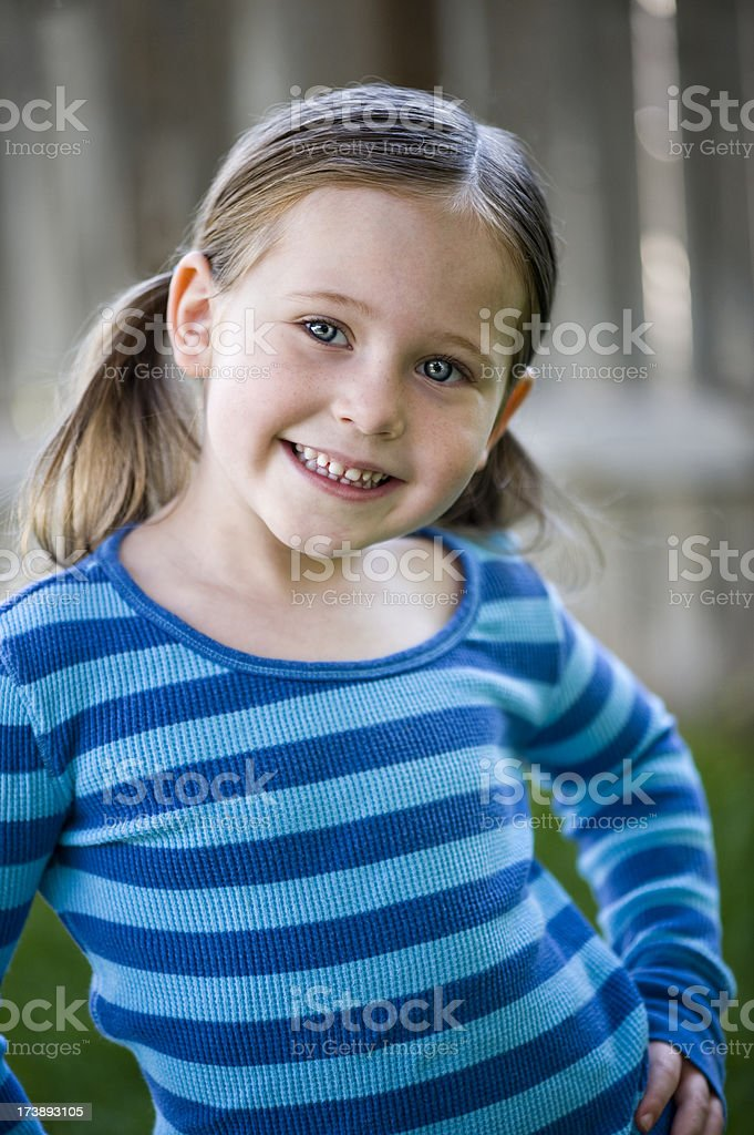 Kids - Cute Little Girl Smiling (XL) royalty-free stock photo