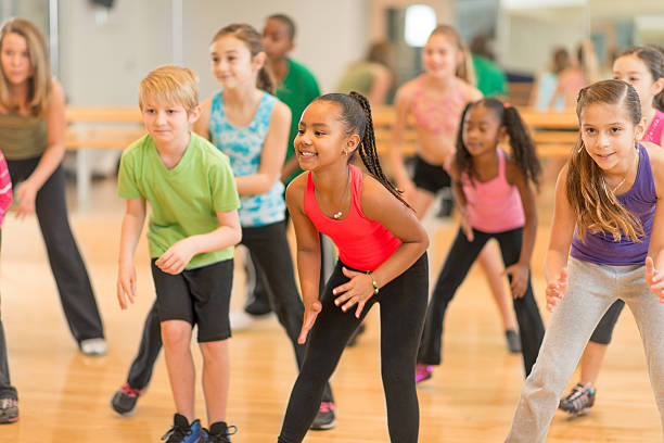 kids dance class - dance class stock photos and pictures