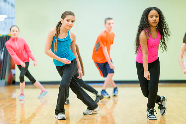 kids dance fitness - dance class stock photos and pictures