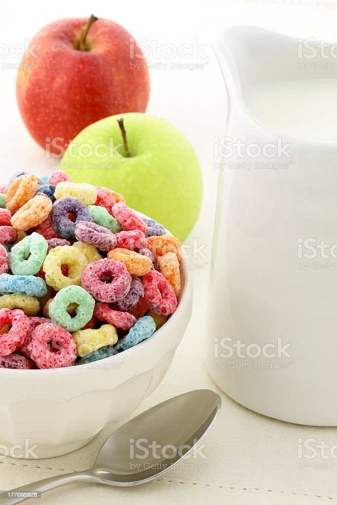 kids delicious and nutritious cereal loops royalty-free stock photo
