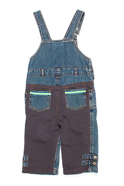 kids denim jumpsuit pants - jeans overall stock-fotos und bilder