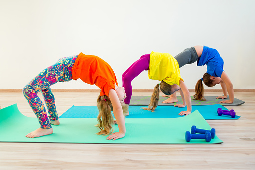 Kids Doing Exercises Stock Photo Download Image Now Istock
