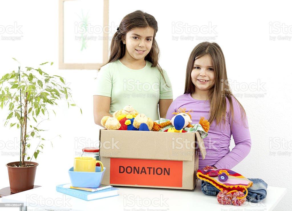 kids donation stock photo
