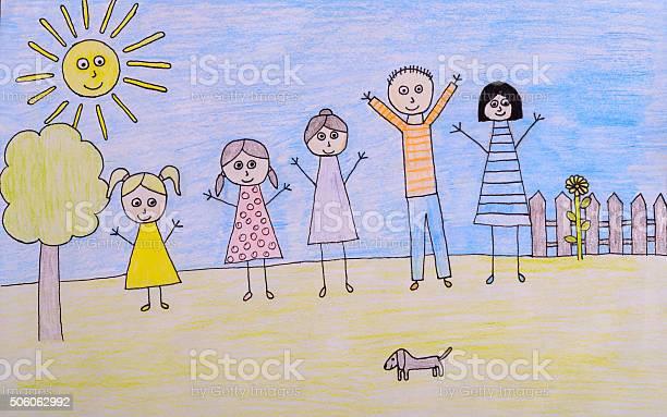 Kids drawing happy family picture picture id506062992?b=1&k=6&m=506062992&s=612x612&h=dzx7xpio8pot99rxf yebmdbo 9xcxminlyo pxgxpu=
