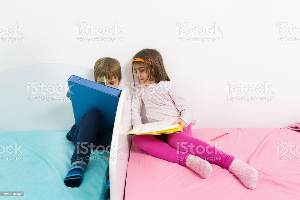 Kids Drawing royalty-free stock photo