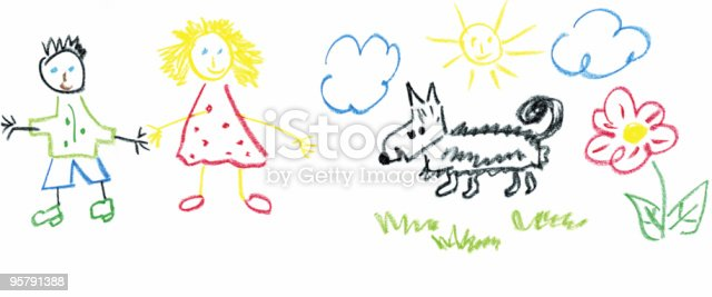 istock kids drawing 95791388