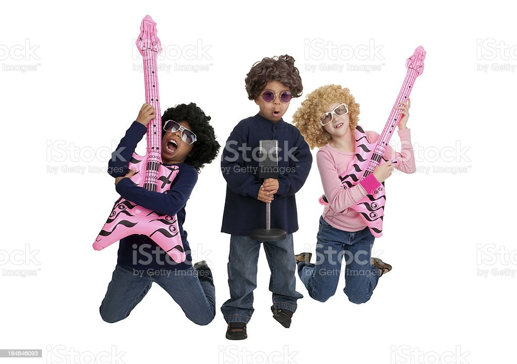Kids Dressed as Rock Stars stock photo