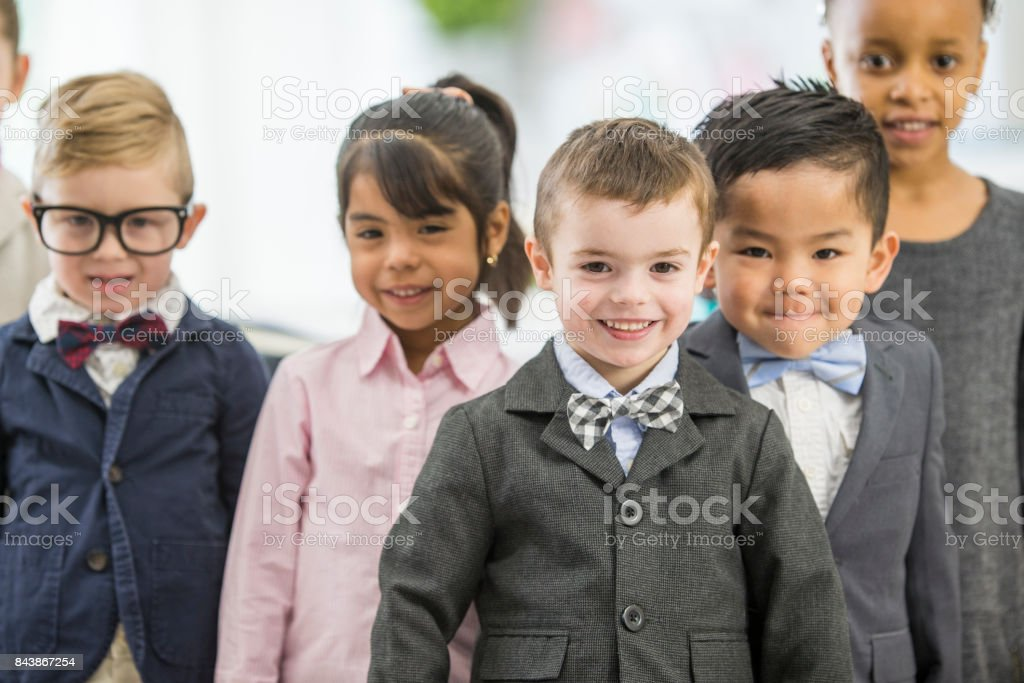 Kids Dressing Up stock photo