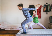 kids exercising at home  -covid 19