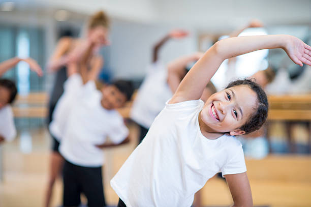 Kids fitness stock photo