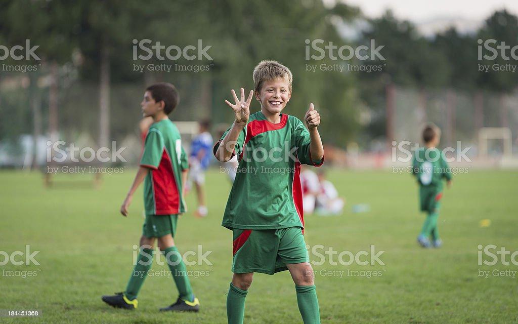 kids football match stock photo