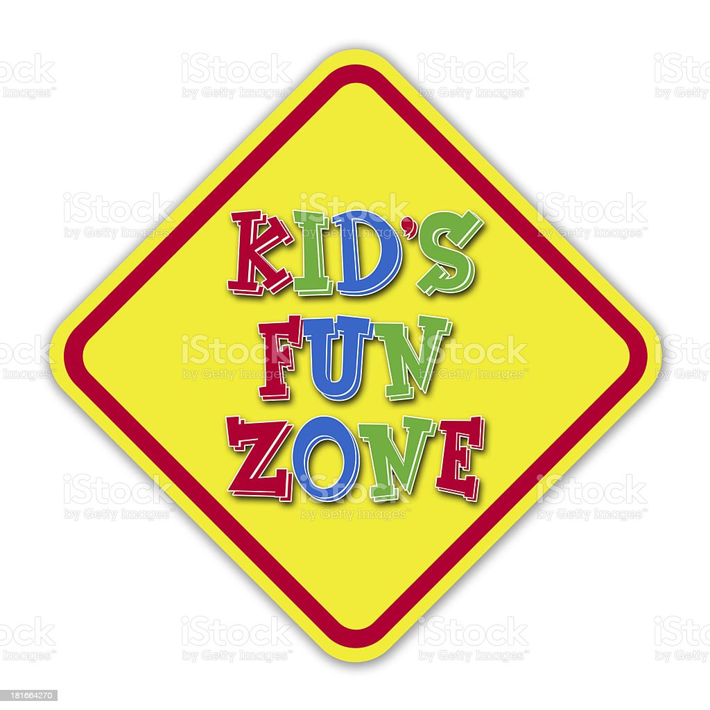 Kid's fun zone sign royalty-free stock photo