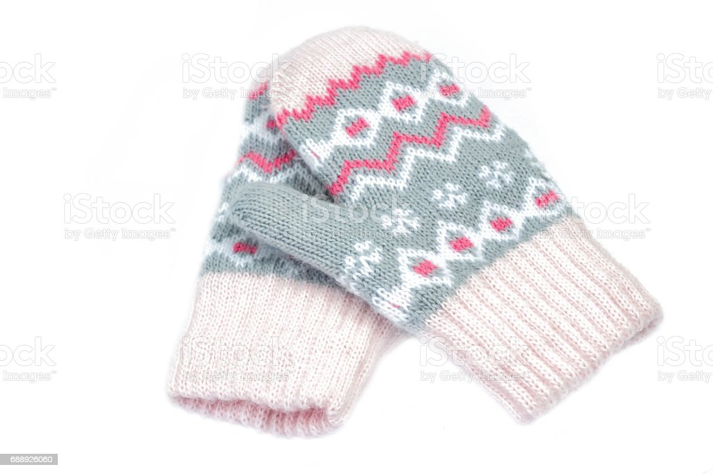 kids gloves isolated on white stock photo