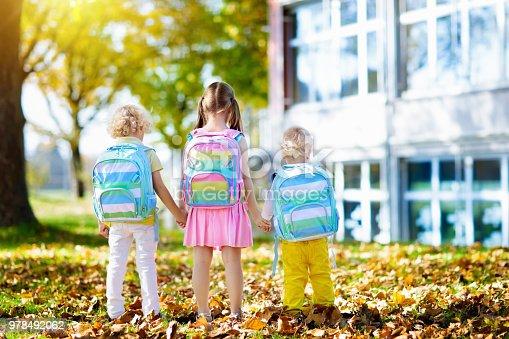 istock Kids go back to school. Child at kindergarten. 978492062