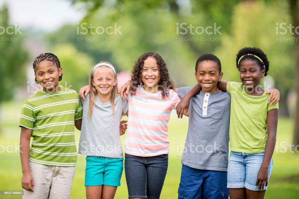 Kids Group stock photo
