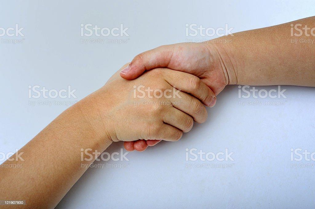 kids handshake royalty-free stock photo
