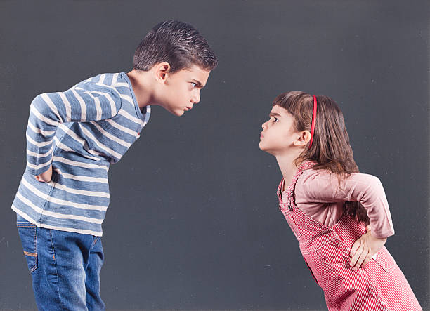 kids having an argument - fighting stock photos and pictures
