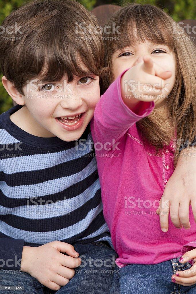 Kids having fun royalty-free stock photo