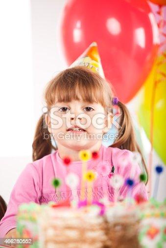 502282224 istock photo Kids having fun while celebrating birthday 466280552