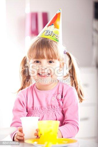 502282224 istock photo Kids having fun while celebrating birthday 524155535