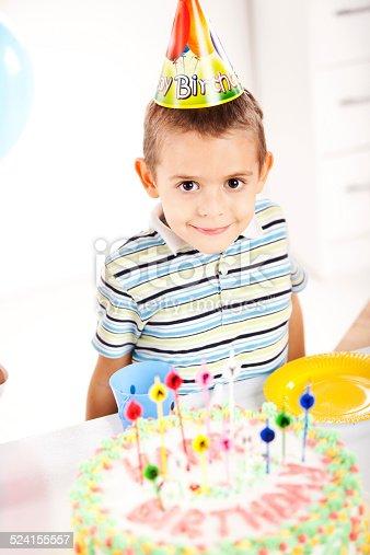 502282224 istock photo Kids having fun while celebrating birthday 524155557