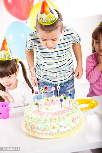 502282224 istock photo Kids having fun while celebrating birthday 531099481
