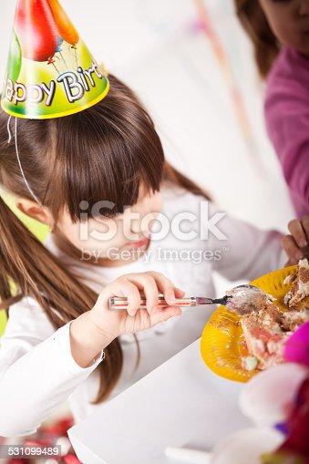502282224 istock photo Kids having fun while celebrating birthday 531099489