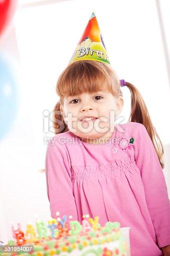 502282224 istock photo Kids having fun while celebrating birthday 531954007