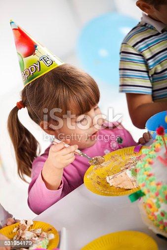 502282224 istock photo Kids having fun while celebrating birthday 531954179