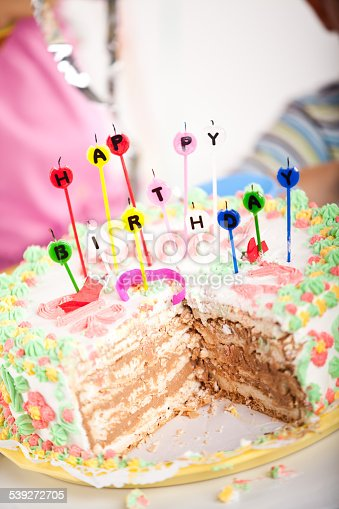 502282224 istock photo Kids having fun while celebrating birthday 539272705