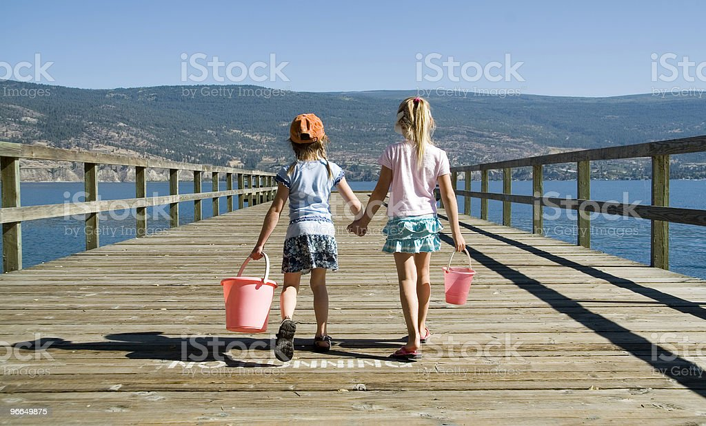 kids holding hands royalty-free stock photo