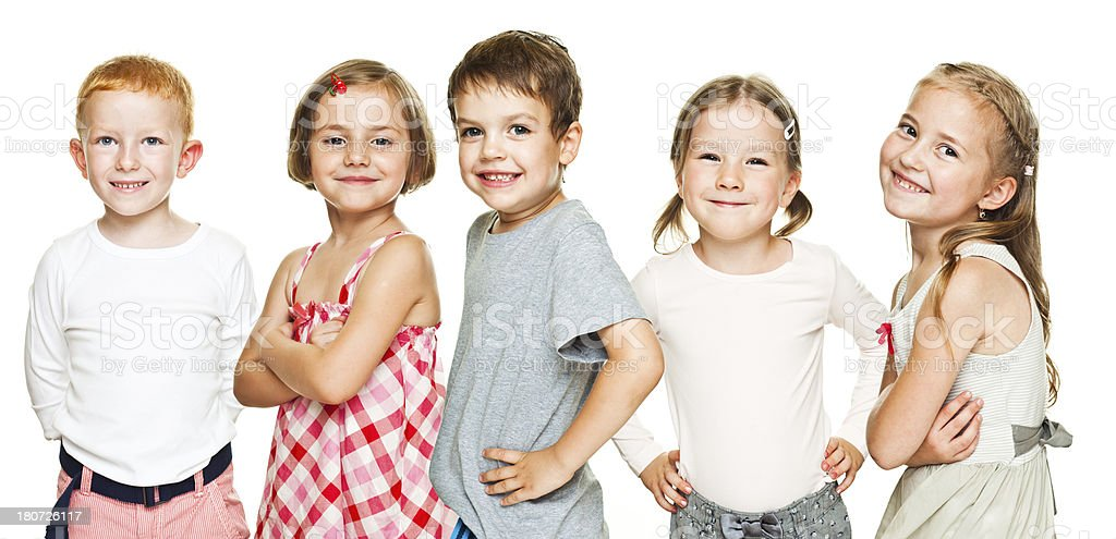 Kids In a Row royalty-free stock photo